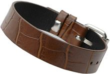Brown Faux Leather Strap