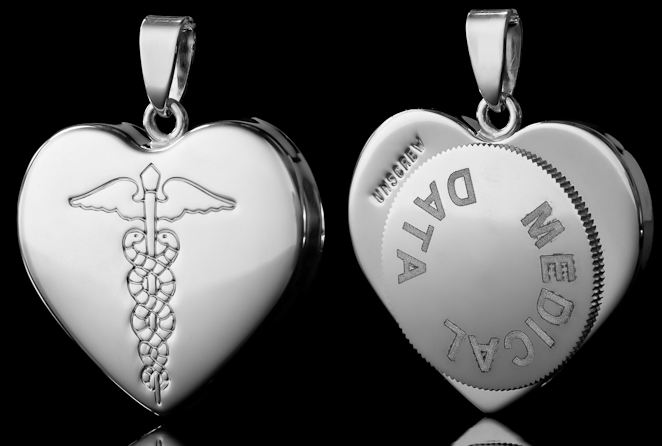 Infomedic medical jewellery pendants medical tags uk retailer of infomedic medical capsule pendant mozeypictures Images
