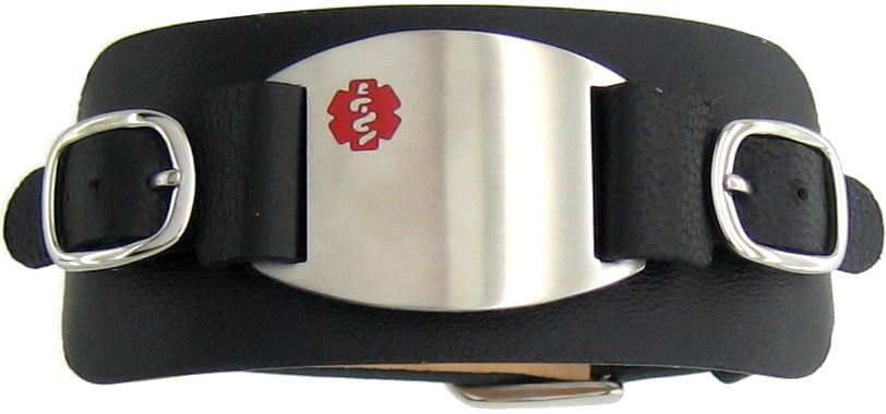 Medical ID Cuff Bracelet - Bracelets - Mens Steel And Silver