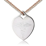 SILVER HEART CHARM with DOUBLE CHAIN